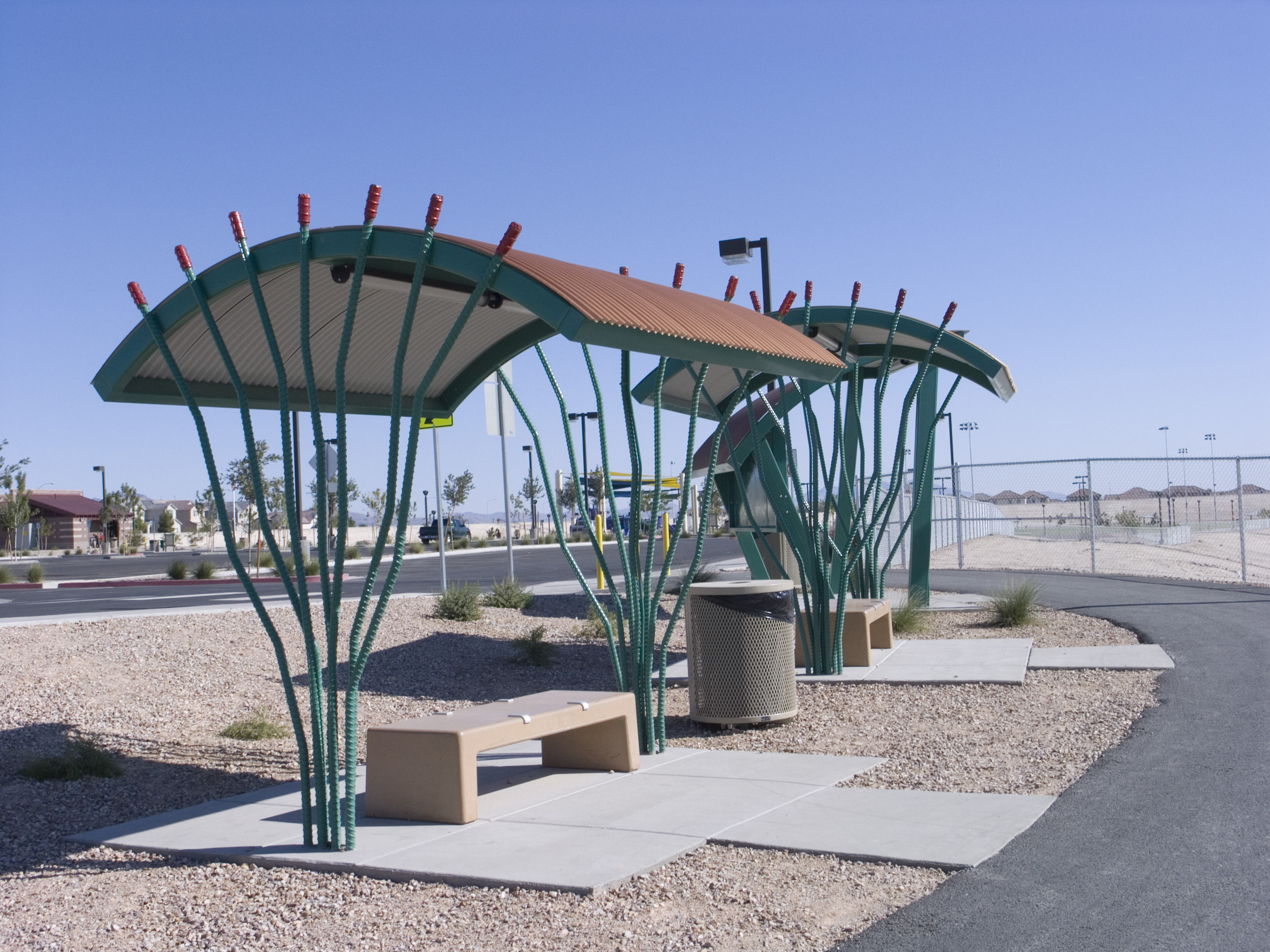 Ocotillo shade shelter