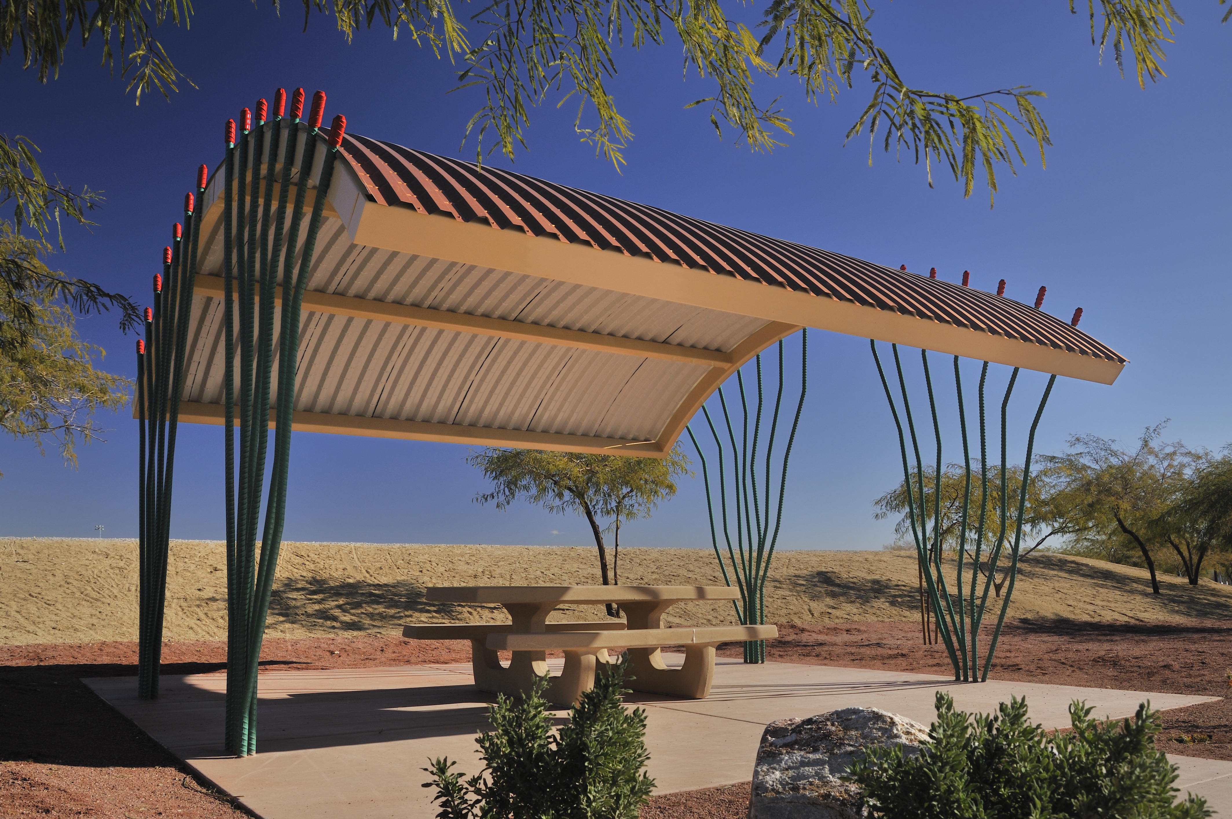 Ocotillo shade structure