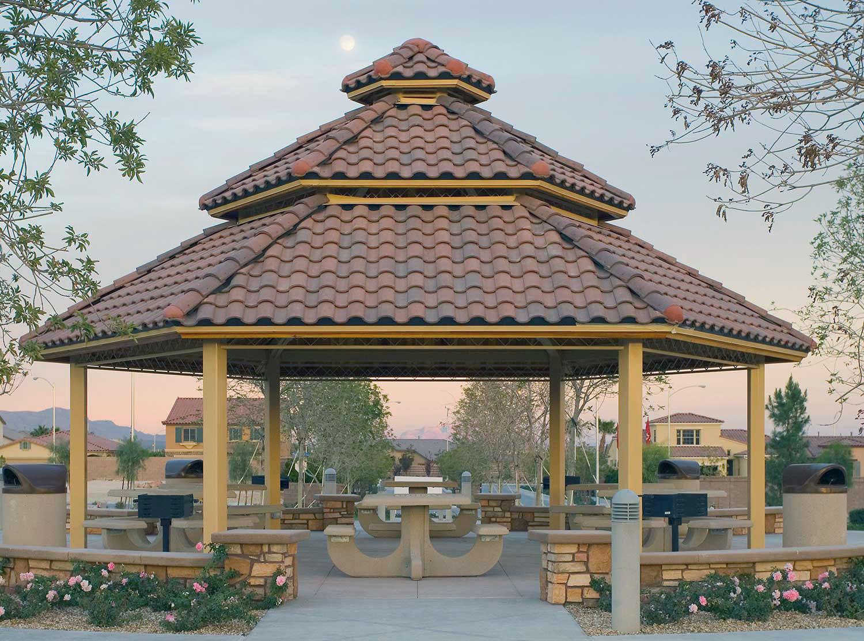 gazebo with cupola