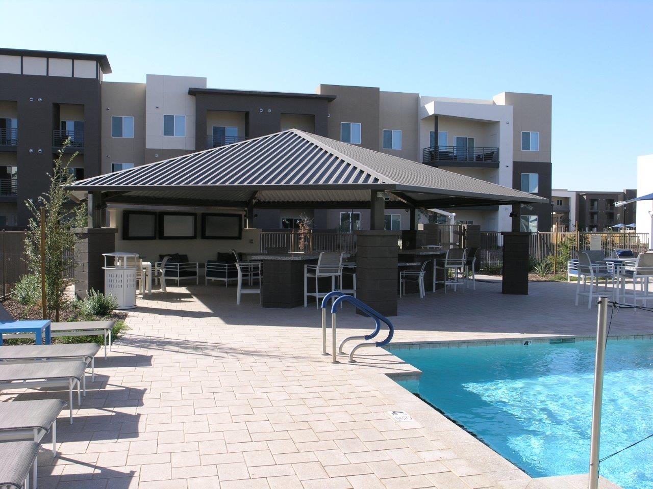 pool shade shelter