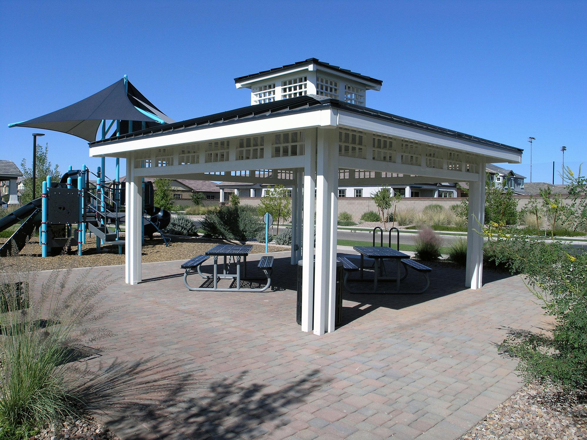 metal shade shelter lattice